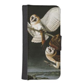 Lechuzas comunes Illustratation (Audubon) del Fundas Tipo Billetera Para iPhone 5