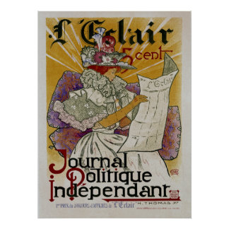 L'Eclair ~ Independent Political Newspaper Poster