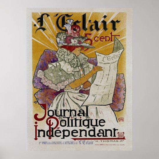 L'Eclair ~ Independent Political Newspaper Poster