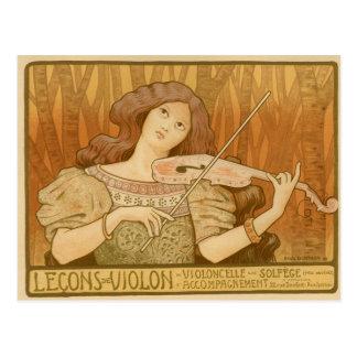 Lecons de Violon Postcard