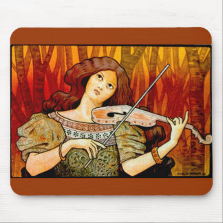 Lecons Music Violin Vintage Poster Mouse Pad