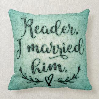 Lector de Jane Eyre lo casé Cojín