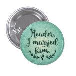 Lector de Jane Eyre lo casé Pin Redondo De 1 Pulgada