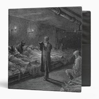 """Lector de la escritura en un refugio de la noche carpeta 1 1/2"""""""