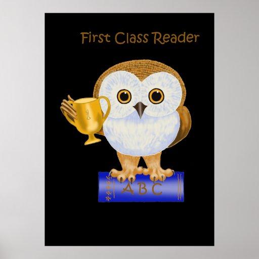 Lector de la primera clase poster