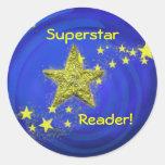 ¡Lector de la superestrella! Etiqueta Redonda