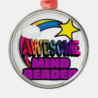 Lector de mente impresionante del arco iris de la adorno redondo plateado