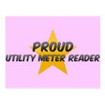 Lector de metro para uso general orgulloso postales