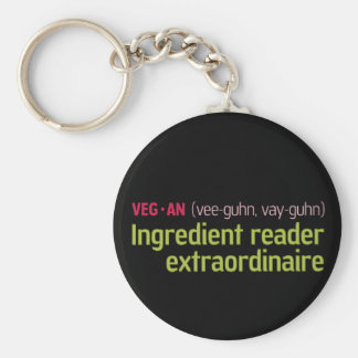 Lector del ingrediente del vegano llavero redondo tipo pin
