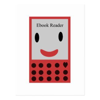 Lector feliz 2 de Ebook Tarjeta Postal