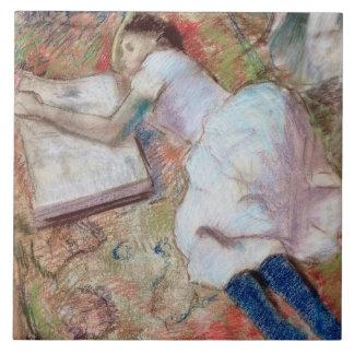 Lector que se acuesta, c.1889 (en colores pastel e azulejos ceramicos