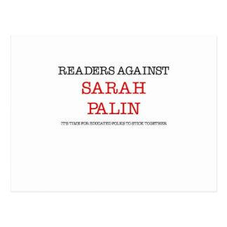 Lectores contra Sarah Palin Tarjetas Postales
