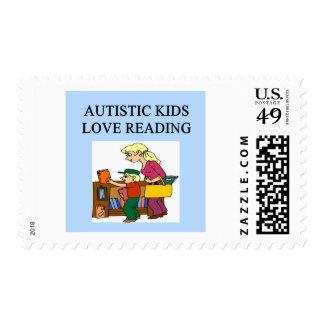 lectura autística del amor de los niños sello