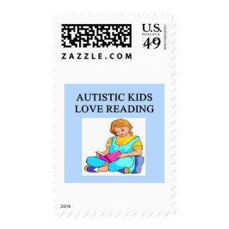 lectura autística del kove de los niños sello
