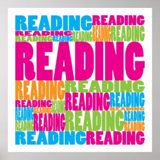 Lectura colorida poster