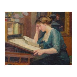 Lectura de 2 impresiones en madera