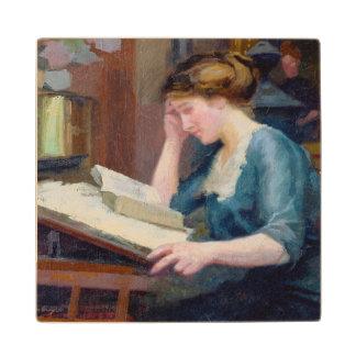 Lectura de 2 posavasos de madera