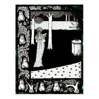 Lectura de Beale Isolda del La en el jardín Postal