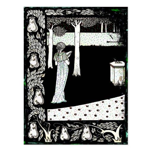 Lectura de Beale Isolda del La en el jardín Tarjeta Postal