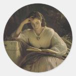Lectura de Ivan Kramskoy- Etiqueta Redonda