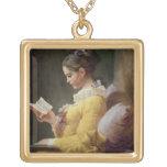 Lectura de la chica joven, c.1776 grimpola personalizada