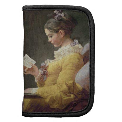 Lectura de la chica joven, c.1776 planificadores