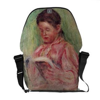Lectura de la mujer (aceite en lona) bolsa messenger