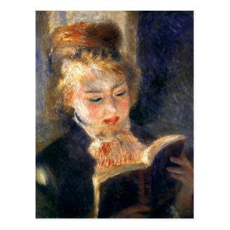 Lectura de la mujer tarjetas postales