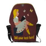 Lectura de la niña bolsas messenger