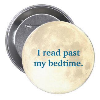 Lectura de la noche pin redondo de 3 pulgadas