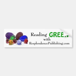 Lectura de la pegatina para el parachoques verde pegatina de parachoque