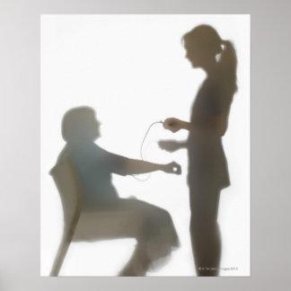 Lectura de la revisión médica mayor/de presión póster