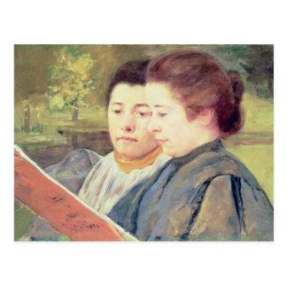 Lectura de las mujeres postal