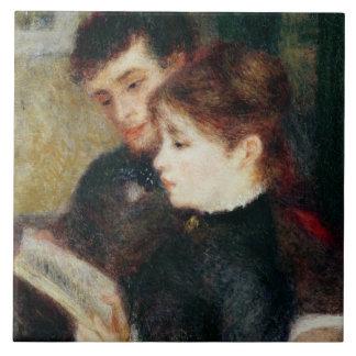 Lectura de los pares (Edmundo Renoir y margarita L Azulejo Cuadrado Grande
