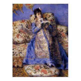 Lectura de Pedro-Auguste Renoir- Camilo Monet Postales