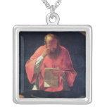 Lectura de St Jerome Colgante Cuadrado