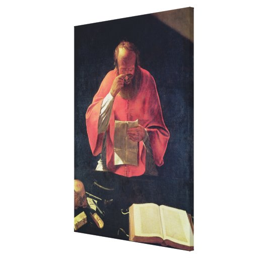 Lectura de St Jerome Lona Envuelta Para Galerías