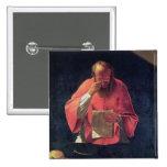 Lectura de St Jerome Pin Cuadrado
