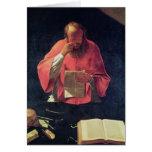Lectura de St Jerome Tarjeta De Felicitación