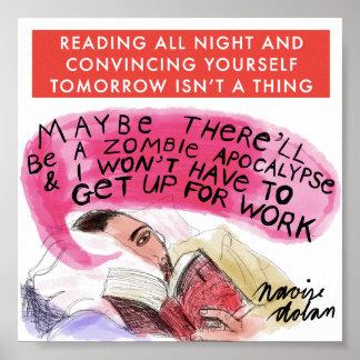 Lectura de toda la noche póster