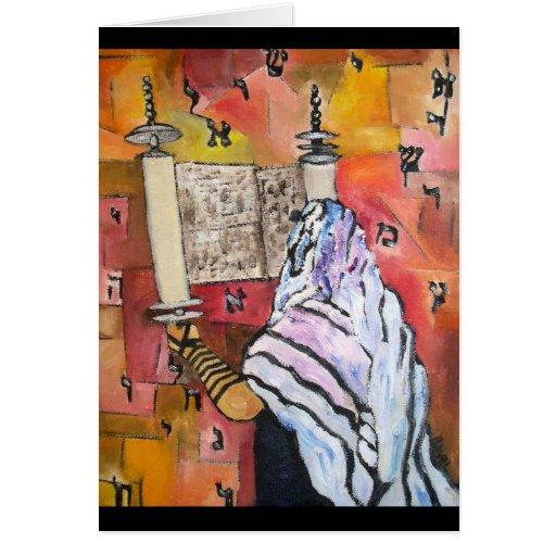 Lectura de Torah Tarjeta De Felicitación
