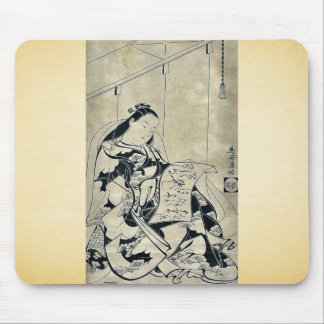 Lectura de una letra de amor por Torii, Kiyomasu,  Alfombrillas De Raton