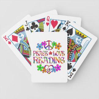 Lectura del amor de la paz baraja de cartas bicycle