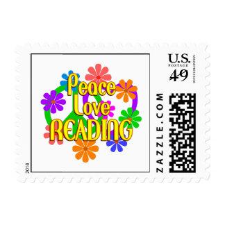 Lectura del amor de la paz sellos postales