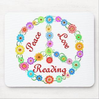 Lectura del amor de la paz mouse pads