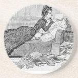 Lectura del chica de Gibson Posavasos Personalizados