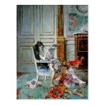 Lectura del chica de Juan Boldini- en un salón Postal