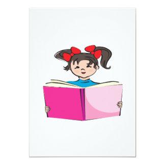 """Lectura del chica invitación 5"""" x 7"""""""
