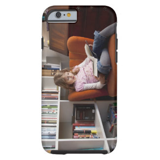 Lectura del chica por el estante funda de iPhone 6 tough