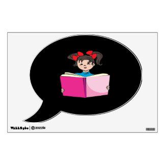 Lectura del chica vinilo decorativo